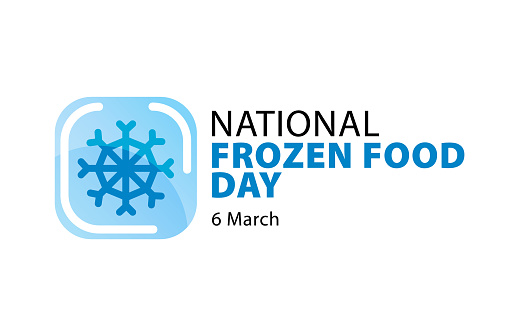 National Frozen Food Day. Snowflake icon vecto.