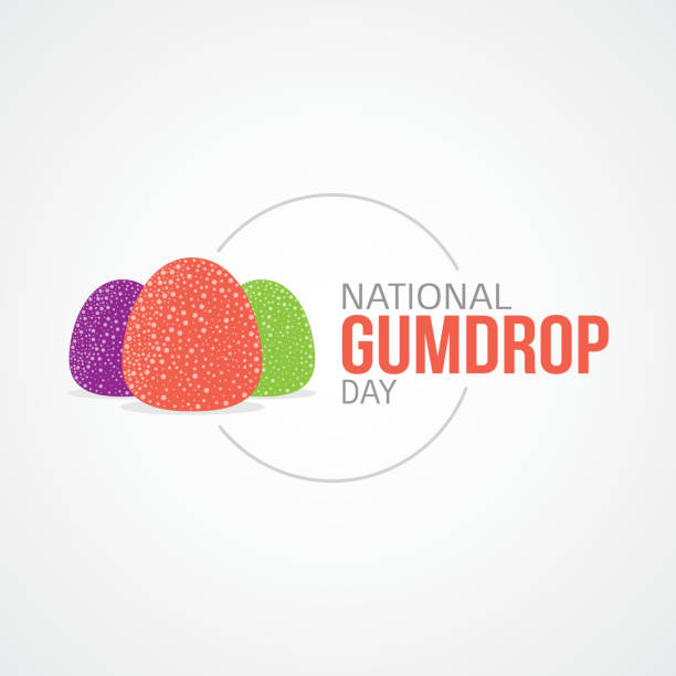 nationalen gumdrop-tag-vektor-illustration - gummibonbon stock-grafiken, -clipart, -cartoons und -symbole