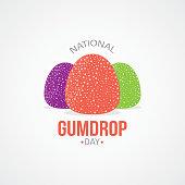 National Gumdrop Day Vector Illustration