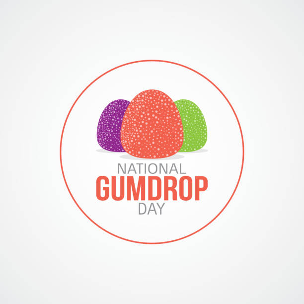 National Gumdrop Day Vector Illustration National Gumdrop Day Vector Illustration. Suitable for greeting card, poster and banner. gum drop stock illustrations