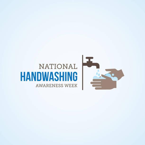 bildbanksillustrationer, clip art samt tecknat material och ikoner med nationella handtvätt awareness week - washing hands