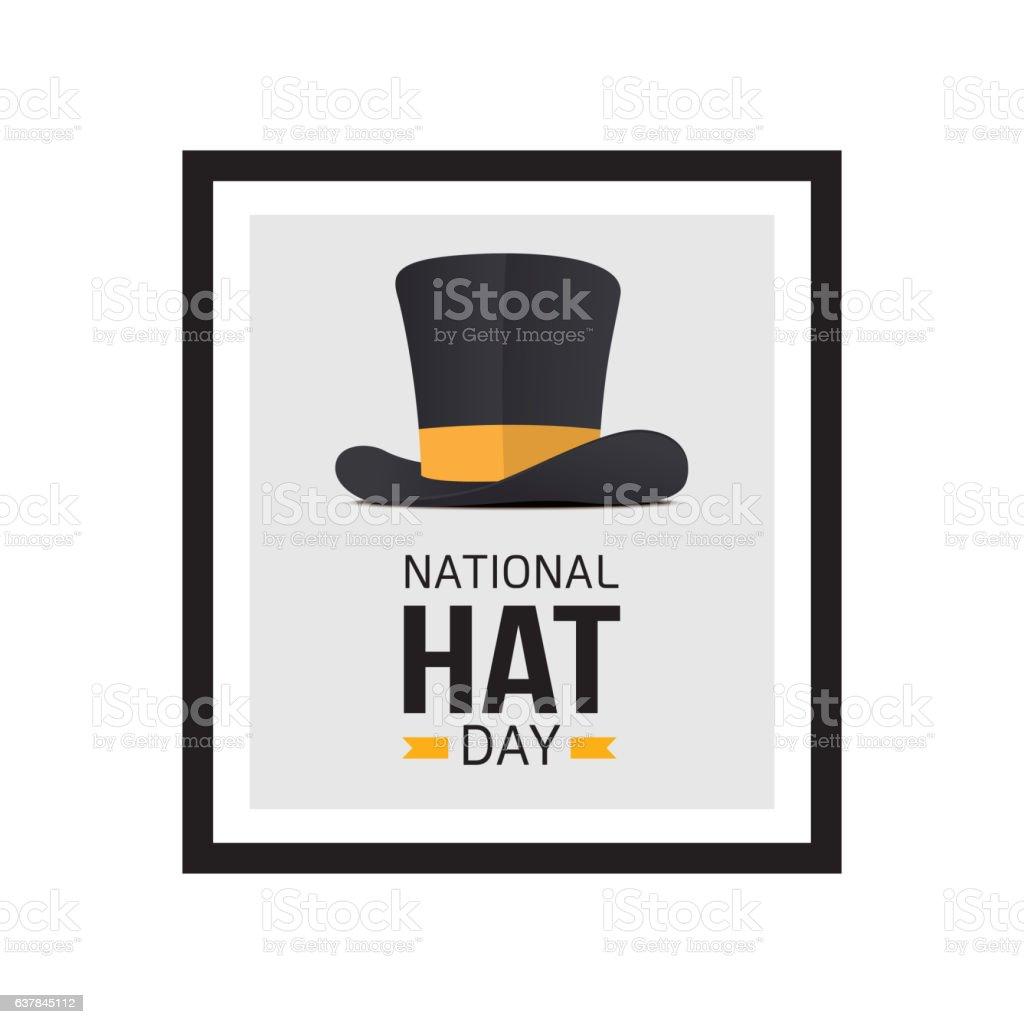 National hat day vector art illustration
