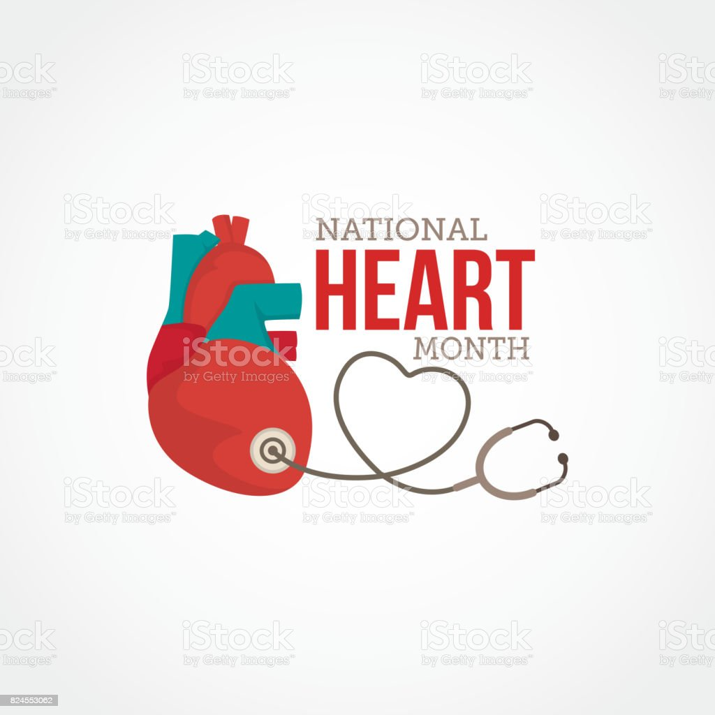 National Hearth Month vector art illustration