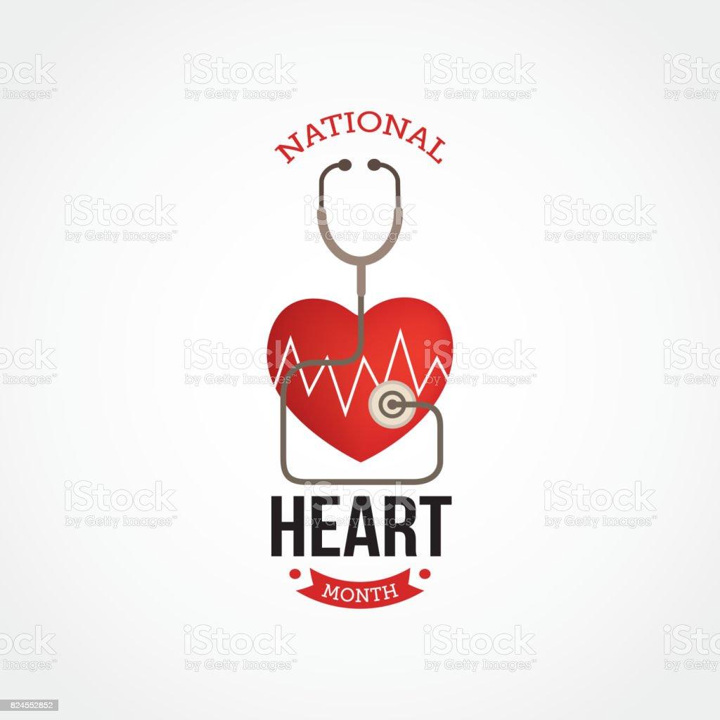 National Hearth Month Vector Illustration vector art illustration