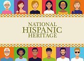 istock national hispanic heritage celebration lettering with people in square frame 1272835559
