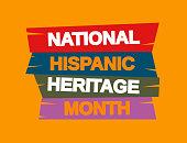 National Hispanic Heritage Month background. Vector illustration. EPS10