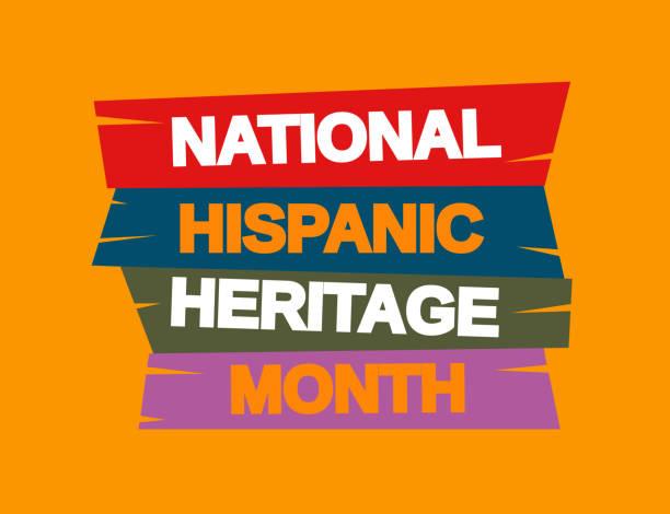 National Hispanic Heritage Month background. Vector National Hispanic Heritage Month background. Vector illustration. EPS10 hispanic heritage month stock illustrations
