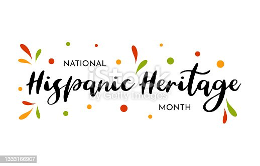 istock National Hispanic Heritage Month card, poster, background. Vector 1333166907