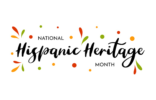 National Hispanic Heritage Month card, poster, background. Vector