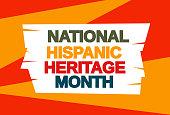 National Hispanic Heritage Month card. Vector illustration. EPS10