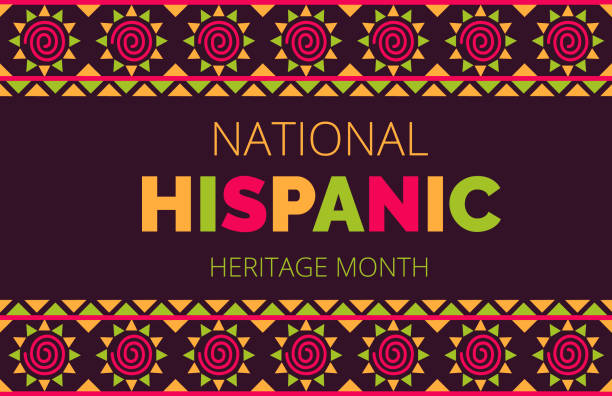 National Hispanic Heritage Month celebrated from 15 September to 15 October USA. Latino American ornament vector National Hispanic Heritage Month celebrated from 15 September to 15 October USA. Latino American ornament vector for greeting card, banner, poster and background. hispanic heritage month stock illustrations