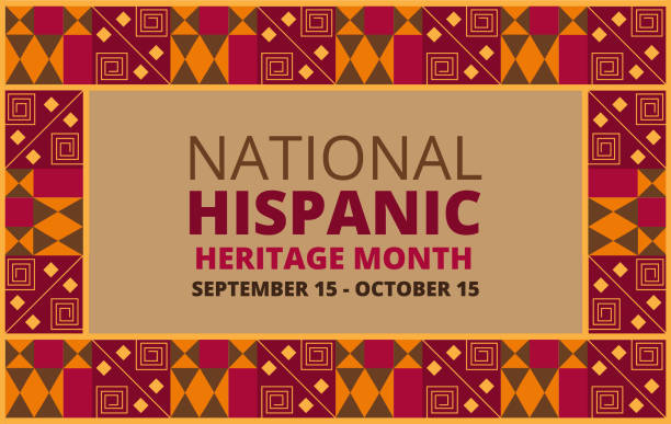 National Hispanic Heritage Month celebrated from 15 September to 15 October USA. National Hispanic Heritage Month celebrated from 15 September to 15 October USA. Chilian and Latino American poncho ornament vector for greeting card, banner, poster and background. hispanic heritage month stock illustrations