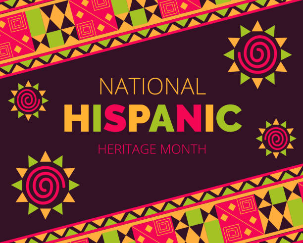 National Hispanic Heritage Month celebrated from 15 September to 15 October USA. National Hispanic Heritage Month celebrated from 15 September to 15 October USA. Latino American ornament vector for greeting card, banner, poster and background. hispanic heritage month stock illustrations