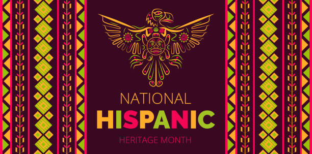 National Hispanic Heritage Month celebrated from 15 September to 15 October USA. Latino American poncho ornament vector for greeting card, banne National Hispanic Heritage Month celebrated from 15 September to 15 October USA. Latino American poncho ornament vector for greeting card, banner, poster and background. hispanic heritage month stock illustrations
