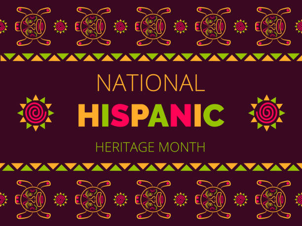 National Hispanic Heritage Month celebrated from 15 September to 15 October USA. Latino American poncho ornament vector for greeting card, banner, poster National Hispanic Heritage Month celebrated from 15 September to 15 October USA. Latino American poncho ornament vector for greeting card, banner, poster and background. hispanic heritage month stock illustrations