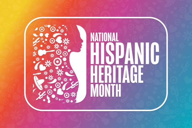 National Hispanic Heritage Month. Holiday concept. Template for background, banner, card, poster with text inscription. Vector EPS10 illustration. National Hispanic Heritage Month. Holiday concept. Template for background, banner, card, poster with text inscription. Vector EPS10 illustration hispanic heritage month stock illustrations
