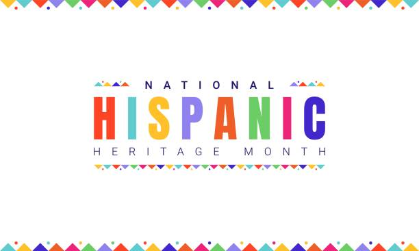 National Hispanic Heritage Month horizontal banner template with colorful text and flags on white background. Influence of Latin American heritage on a world culture. National Hispanic Heritage Month horizontal banner template with colorful text and flags on white background. Influence of Latin American heritage on a world culture. hispanic heritage month stock illustrations