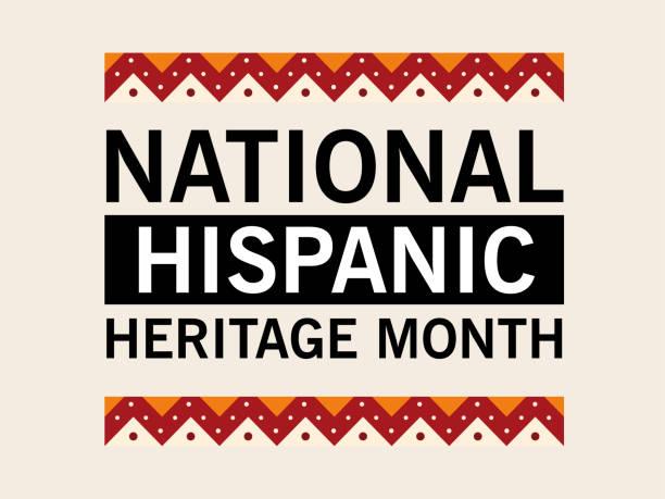 national hispanic heritage month in geometric frame vector design national hispanic heritage month in geometric frame design, culture and diversity theme Vector illustration hispanic heritage month stock illustrations