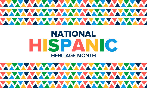 National Hispanic Heritage Month in September and October. Hispanic and Latino Americans culture. Celebrate annual in United States. Poster, card, banner and background. Vector illustration National Hispanic Heritage Month in September and October. Hispanic and Latino Americans culture. Celebrate annual in United States. Poster, card, banner and background. Vector illustration tradition stock illustrations