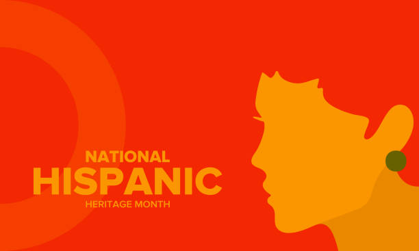 ilustrações de stock, clip art, desenhos animados e ícones de national hispanic heritage month in september and october. hispanic and latino americans culture. celebrate annual in united states. poster, card, banner and background. vector illustration - tradição