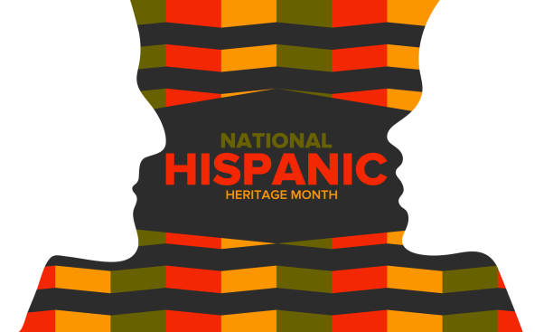 National Hispanic Heritage Month in September and October. Hispanic and Latino Americans culture. Celebrate annual in United States. Poster, card, banner and background. Vector illustration National Hispanic Heritage Month in September and October. Hispanic and Latino Americans culture. Celebrate annual in United States. Poster, card, banner and background. Vector illustration month stock illustrations