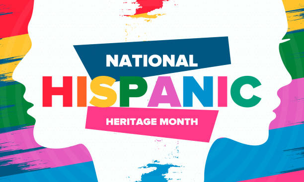 National Hispanic Heritage Month in September and October. Hispanic and Latino Americans culture. Celebrate annual in United States. Poster, card, banner and background. Vector illustration National Hispanic Heritage Month in September and October. Hispanic and Latino Americans culture. Celebrate annual in United States. Poster, card, banner and background. Vector illustration hispanic heritage month stock illustrations