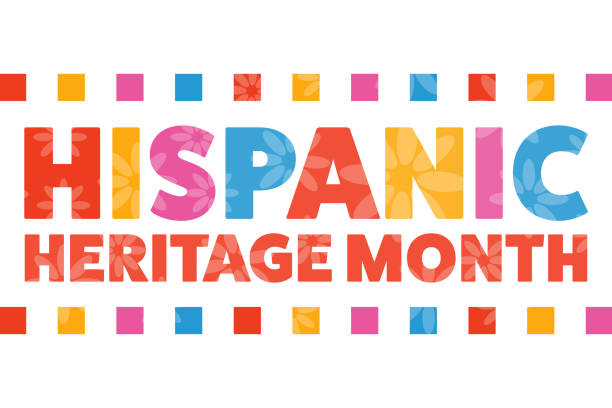 National Hispanic Heritage Month. September 15 to October 15.  Holiday concept. Template for background, banner, card, poster with text inscription. Vector EPS10 illustration. National Hispanic Heritage Month. September 15 to October 15.  Holiday concept. Template for background, banner, card, poster with text inscription. Vector EPS10 illustration hispanic heritage month stock illustrations