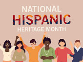 istock national hispanic heritage month with latin women and men vector design 1276887162