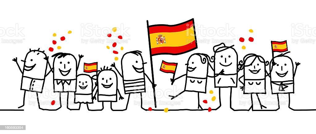 national holiday - Spain vector art illustration
