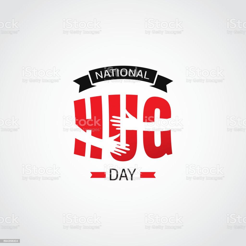 Día Nacional del abrazo - ilustración de arte vectorial