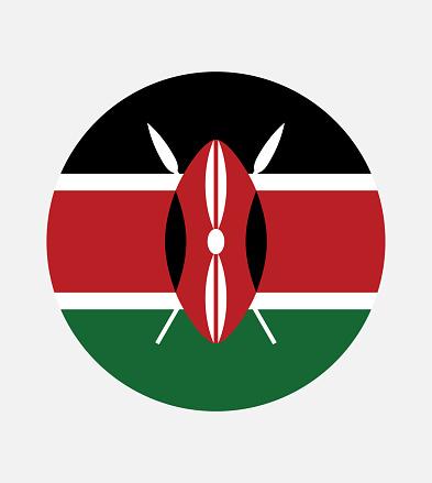 National Kenya flag, official colors and proportion correctly. National Kenya flag. Vector illustration. EPS10. Kenya flag vector icon, simple, flat design for web or mobile app.
