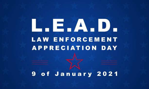 National Law Enforcement Appreciation Day - banner, poster, card vector art illustration