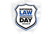 istock National Law Enforcement Appreciation Day L.E.A.D. January 9. Holiday concept. Template for background, banner, card, poster with text inscription. Vector EPS10 illustration. 1289936942