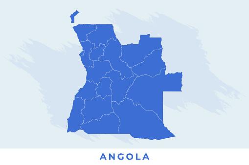 National map of Angola, Angola map vector, illustration vector of Angola Map.