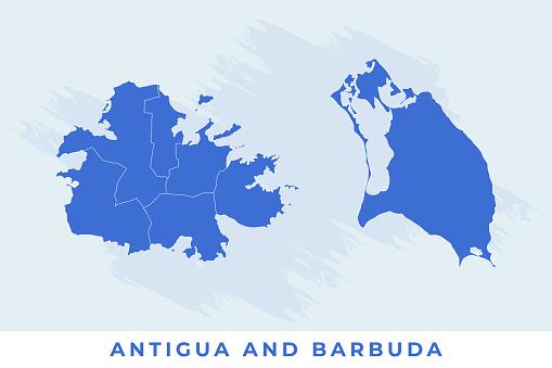 National map of Antigua and Barbuda, Antigua and Barbuda map vector, illustration vector of Antigua and Barbuda Map.
