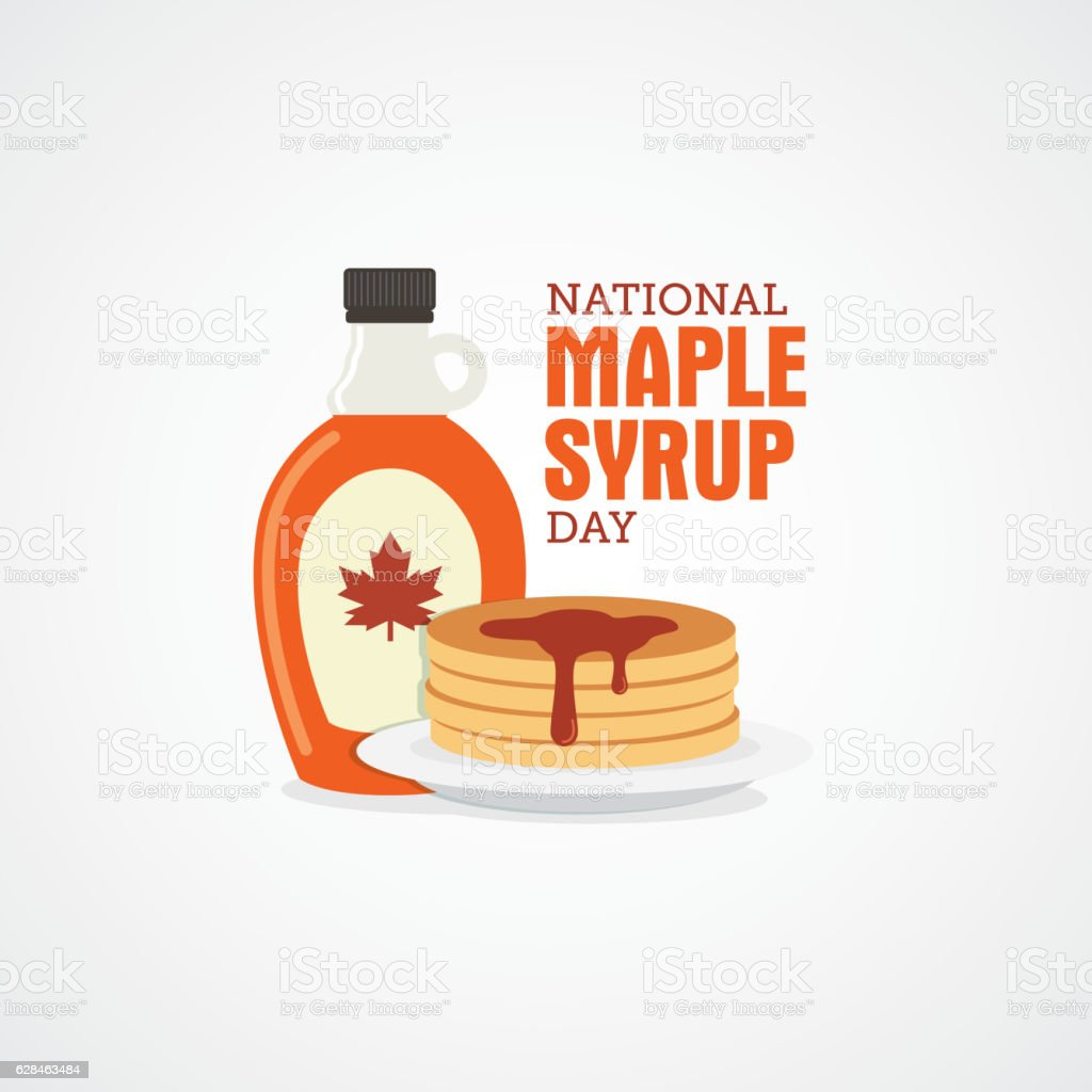 National Maple Syrup Day Vector Illustration Stock ...