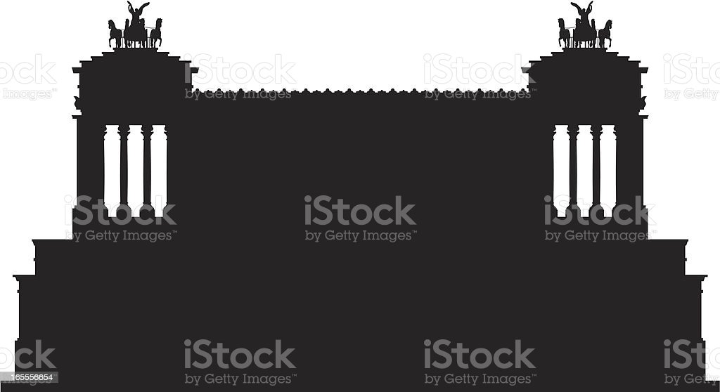 National Monument of Victor Emmanuel II (Rome) royalty-free stock vector art