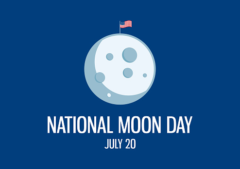 National Moon Day vector