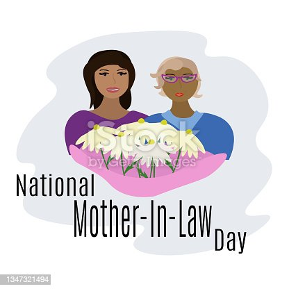 istock National Mother-In-Law Day, idea for banner, poster, flyer or postcard 1347321494