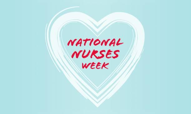 National Nurses Week background. vector art illustration