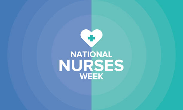 National Nurses Week. Celebrated annual in May in United States. In honor of the doctors. Medical concept. Care and health. Poster, card, banner and background. Vector illustration National Nurses Week. Celebrated annual in May in United States. In honor of the doctors. Medical concept. Care and health. Poster, card, banner and background. Vector illustration nurses stock illustrations