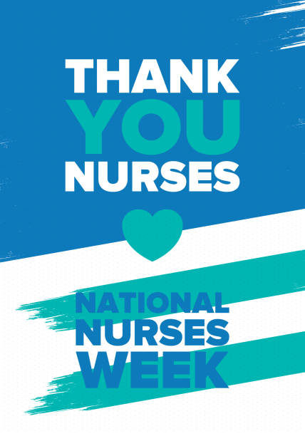 National Nurses Week. Thank you nurses. Medical and health care concept. Fighters against viruses and diseases. In honour of the doctors. Celebrated annual in United States. Vector illustration poster vector art illustration