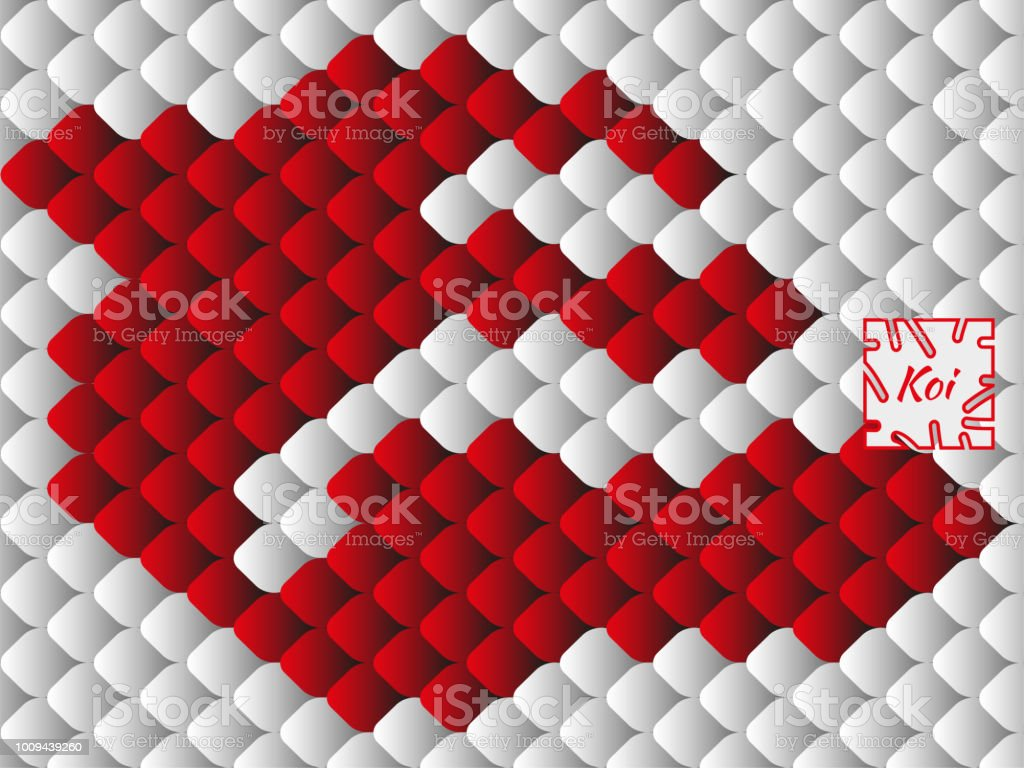 National Oriental Pattern Multicolored Fish Scales Of Carp Koi ...