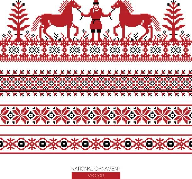 国家の装飾背景 - ロシアの国旗点のイラスト素材/クリップアート素材/マンガ素材/アイコン素材