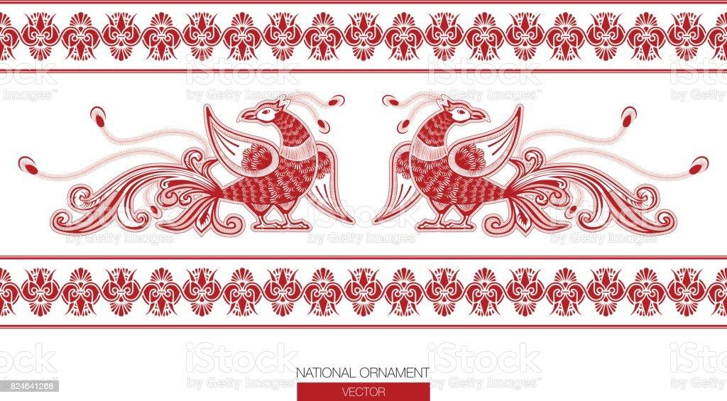national ornament background vector art illustration