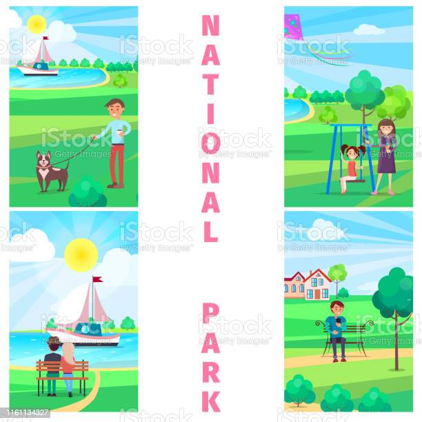 National park in summer with relaxing people vector id1161134327?b=1&k=6&m=1161134327&s=612x612&h= 6rffwvj 5q92kag38gsl2fg15lckcahoa2yz8h7apm=