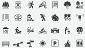 National Park Outdoor Concept icons