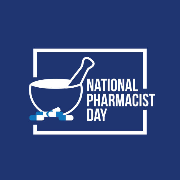 National Pharmacist Day National Pharmacist Day Vector Illustration pharmacist stock illustrations
