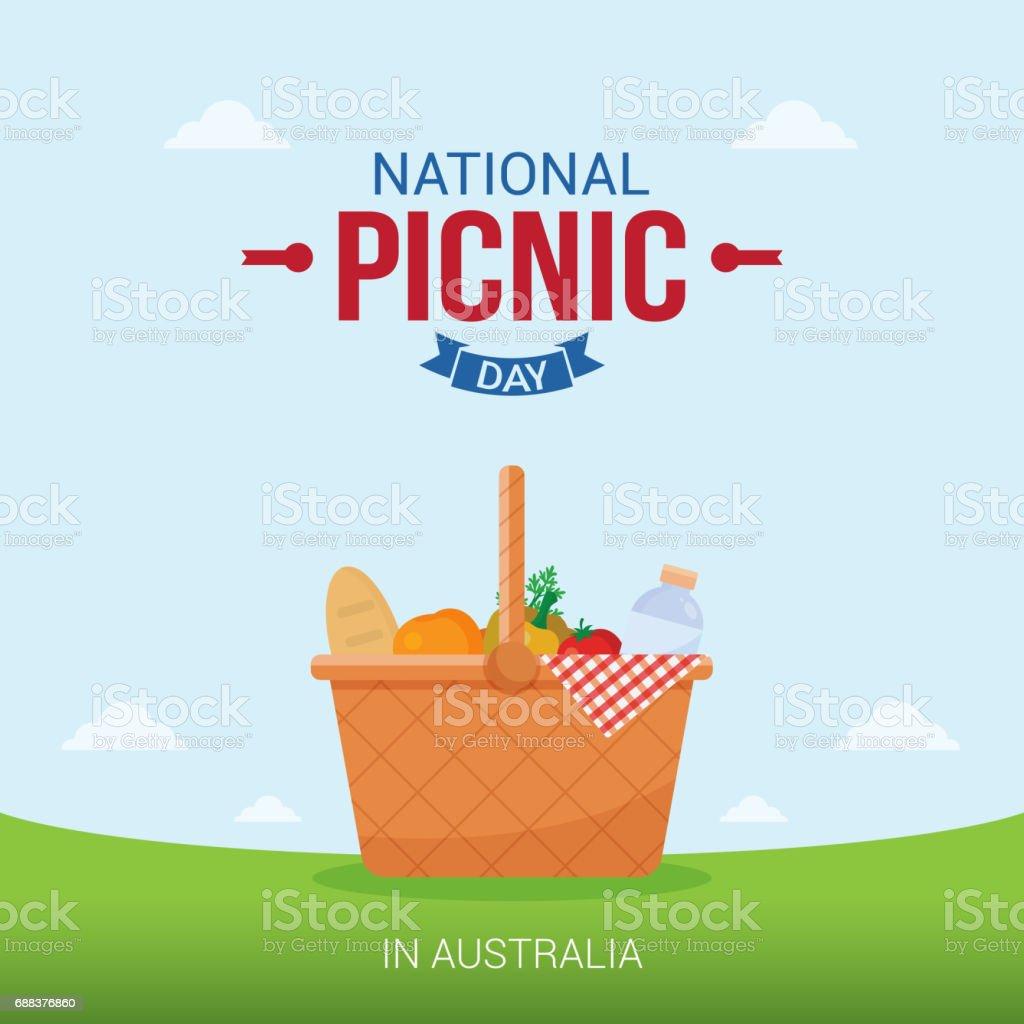 国立ピクニック日ベクター イラストです。グリーティング カード、ポスター、バナーに適しています。 ベクターアートイラスト