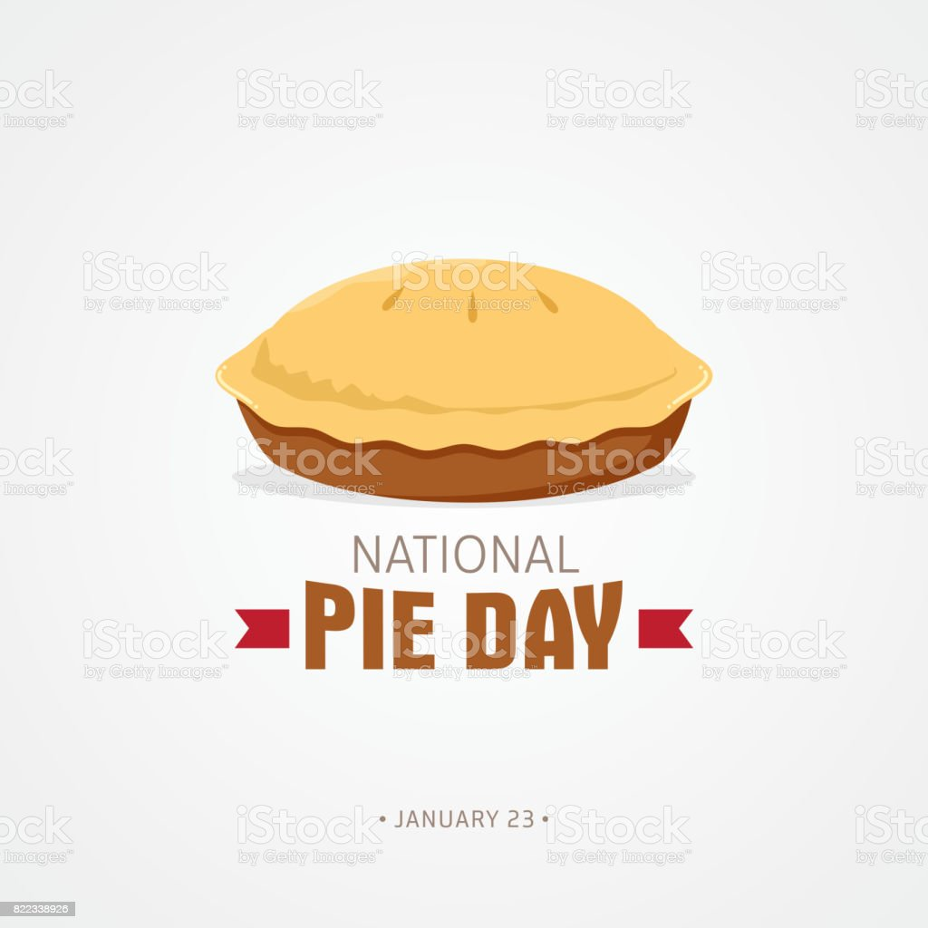 National Pie Day vector art illustration
